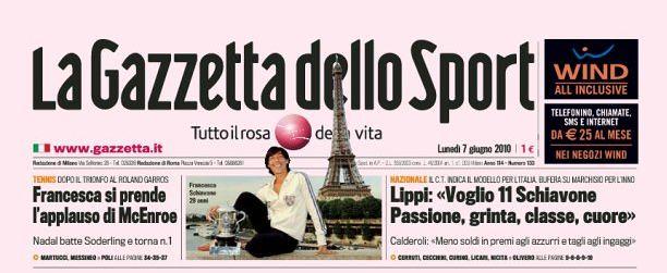 La Gazzetta dello Sport - Francesca Schiavone