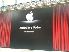 Apple Store Opera teasing ce matin ouverture été 2010 rue halevy