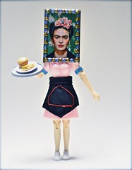 Portrait of Frida Kahlo with a Cheeseburger and Fries (ricko) Tags: deleteme5 deleteme8 deleteme deleteme2 deleteme3 deleteme4 deleteme6 deleteme9 deleteme7 toy actionfigure saveme4 saveme5 saveme6 saveme saveme2 saveme3 saveme7 deleteme10 cheeseburger fries saveme8 fridakahlo waitress matchbook mdpd10 mdpd1006