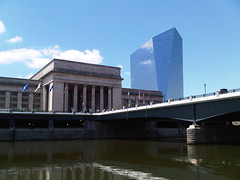 30th Street Station, Cira Center and Schuylkill River