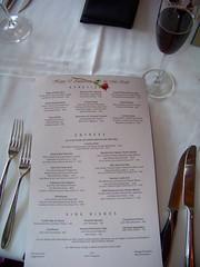 Custom Menu / Yachtman's Steakhouse