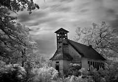 Coldwater One-Room School IR (Uncle Phooey) Tags: school bw abandoned rural ir blackwhite decay country oldschool explore forgotten missouri infrared weathered schoolhouse ozarks ruraldecay dilapidated hartville coldwater oneroomschool ruralschool lensfilter southwestmissouri countryschool wrightcounty unclephooey coldwaterschool notdigitalfilter 45sectimeexposure