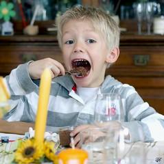 Raphal aime le chocolat (Didier-Lg) Tags: famille boy portrait face kid child retrato enfant neveu visage raphal childrenportrait rotratto
