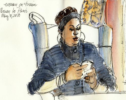 Between Rouen and Paris, en route