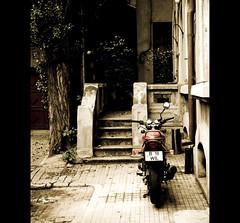the journey ends when you're back home (ion-bogdan dumitrescu) Tags: street house home bike stairs courtyard motorbike romania bucharest bitzi ibdp mg2401edit ibdpro wwwibdpro ionbogdandumitrescuphotography