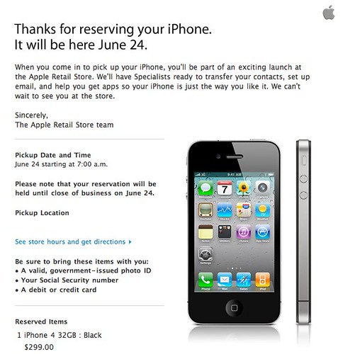 iPhone 4 Reservation