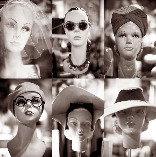 Bon Ton womens hats black and white