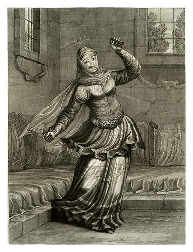 019-Bailarina turca-Recueil de cent estampes…1714- M. Le Hay