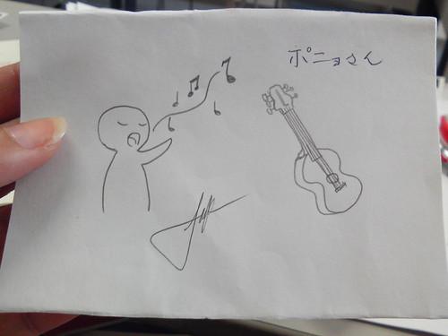 印尼同學畫給我的吉他