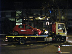 Mile End Road Car Crash -2- 27th November 2009