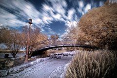 The place remains the same (FX-1988) Tags: park bridge blue red ir israel long exposure place same infrared ישראל remains infra cluds hoya the modiin r72 smoothed מודיעין