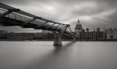 St Paul's (stevoriley) Tags: longexposure bridge london water saint st clouds 110 millenniumbridge nd stpaulscathedral neutraldensity nd110 top20london
