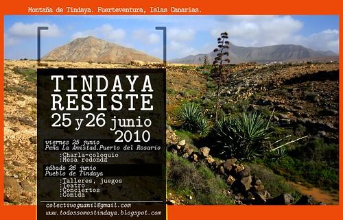 Tindaya Resiste cartel horizontal