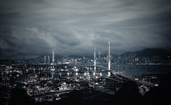 . (songallery) Tags: bridge blue sky cloud reflection weather night spectacular wonder landscape geotagged hongkong evening landscapes gloomy cloudy dusk wide dramatic engineering atmosphere landmark explore  cinematic ultrawide brilliant dreamscape muted subtle   explored