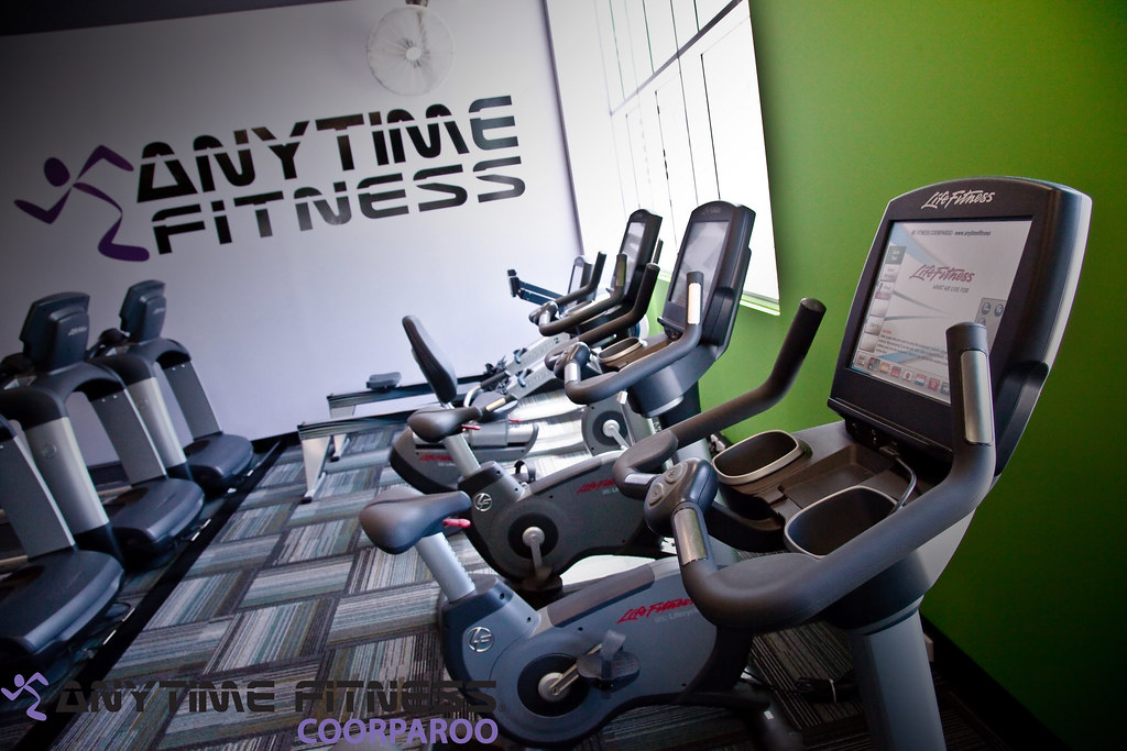 Anytime Fitness Coorparoo Life Fitness 95C Engage Lifecycle Bike