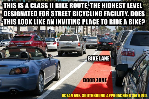 Ocean Ave Cluster F*#k Bike Lane
