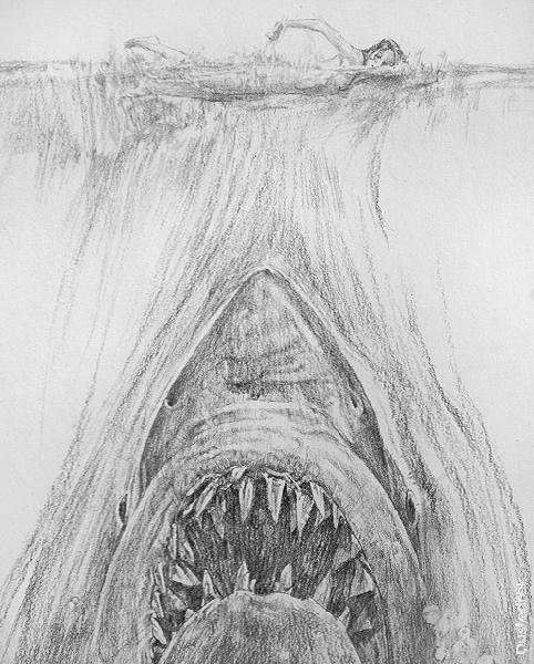 jaws_sketch_roger_kastel