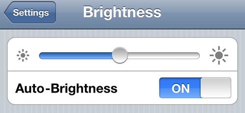 iPhone 4 - Auto Brightness