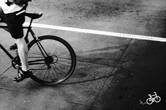 335/365: tow away (futo) Tags: sanfrancisco california street shadow blackandwhite bike bicycle dark downtown cyclist candid biker cinematic project365 hipstamatic