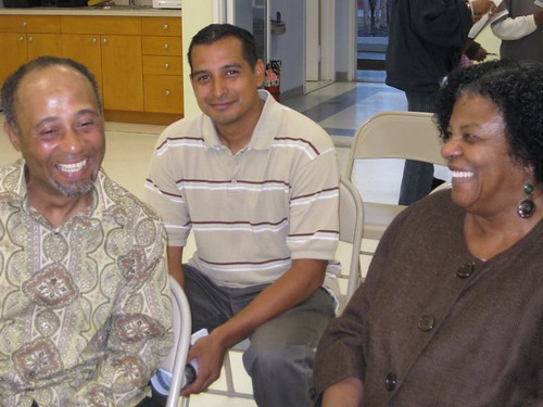 Jerry, Victor and Colia: A shared laugh