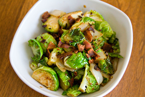 Bacon, Onion, and Brussels Sprouts - 4