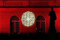 Festival of Lights Berlin 2010 (ahmBerlin) Tags: light shadow red berlin rot licht ornament schatten festivaloflights gwb beleuchtung charlottenburg orangerie schlosscharlottenburg guessedberlin gwbartie