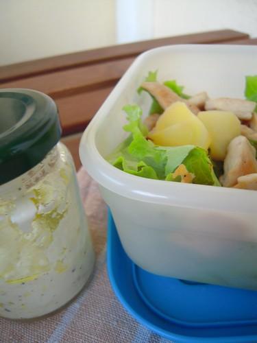insalata di pollo e patate per schiscetta