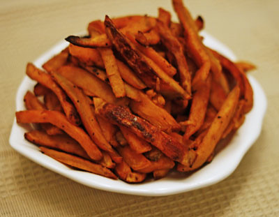 Baked Barbecue Sweet Potato Fries Recipe