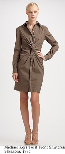Saks.com - Michael Kors - Twist Front Shirt Dress