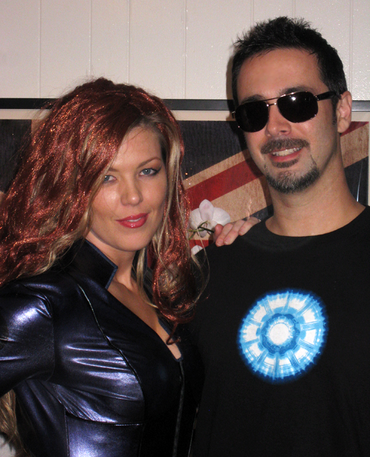 halloween costumes+tony stark+black widow