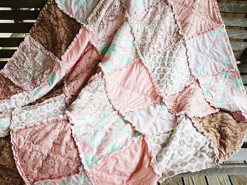 Rag Quilt, throw blanket, hushabye from southern charm quilts