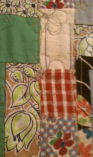 Strips of vintage quilt blocks