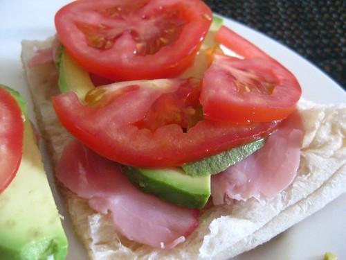 ham, avo tomato turkish