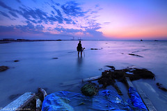 LandScaper Sunset (A.alFoudry) Tags: city pink blue winter sunset sea clouds canon landscape