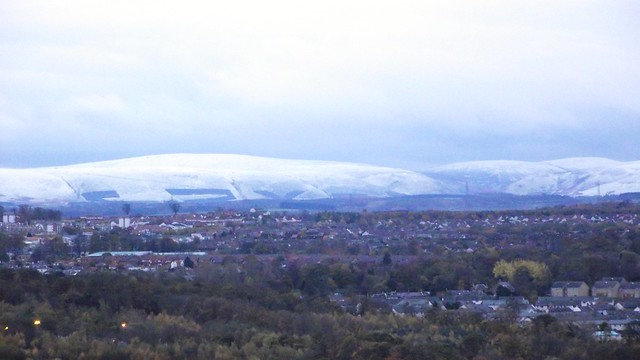 first snow on the Pentlands