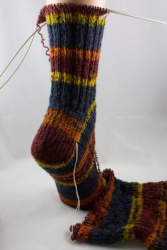 Machine Knitting to Dye For socks