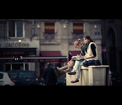 on the top of the world (millan p. rible) Tags: street cinema france canon movie still lyon candid stranger cinematic placedesjacobins rhonealpes jacobins 135l canonef135mmf2lusm onthetopoftheworld canoneos5dmarkii 5d2