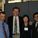 Hampton, Wang, and Vaidya at the Leadership Dinner