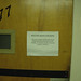 Sign Posted to Keep Door Locked in Science and Treatment Building