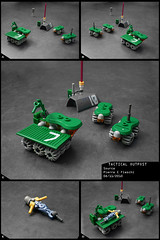 Tactical Outpost (Pierre E Fieschi) Tags: lego pierre ground rover micro base spacecraft unit microspace moonrover terraforming fieschi microscale microspacetpia