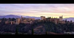 Atardecer en la Alhambra (dayangchi) Tags: atardecer andaluca cielo alhambra granada belleza palacio panormica maravilla rabe andalus ltytr1 dayangchi mygearandme mygearandmepremium