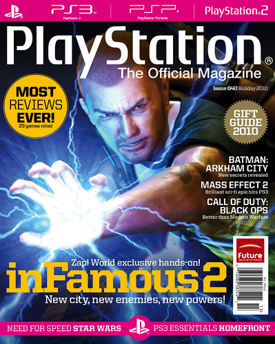 inFAMOUS 2 on PTOM's holiday cover