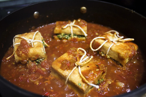 Simmering Lemongrass Stuffed Tofu