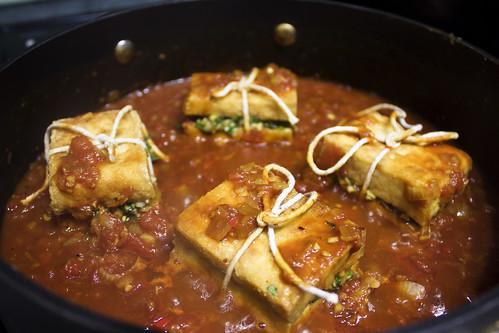 Vegetarian Braised Lemongrass Stuffed Vietnamese Tofu