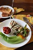 Thumbnail image for Grilled Paneer Cheese With Roasted Artichoke, Asparagus & Bell pepper Salad & Cherry Tomato Fondue