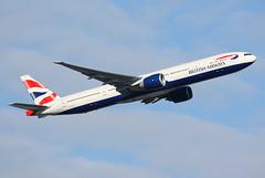 British Airways - G-STBA (Andrew_Simpson) Tags: heathrow ba boeing britishairways takeoff 777 lhr heathrowairport oneworld londonheathrow egll triple7 777300 777300er oneworldalliance gstba