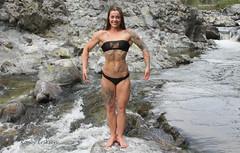 Lana Larouche (KaseyEriksen) Tags: lanabananafitness lana larouche muscle fitness girl woman women competition tattoo tattoos beach river water ocean lake flex