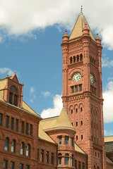 Central High School - Duluth Minnesota (Brad Harding Photography) Tags: bigben clocktower clock tower architecture richardmhunt lucianphall olivertraphagen francisfitzpatrick emmettspalmer 1892 richardsonianromanesque minnesota duluth centralhighschool