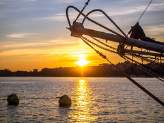Towards the Sun (Jens Haggren) Tags: sun sunset sky water reflections boat stockholm sweden