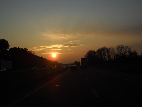 Traveling to Texas from Nashville... heading West into the sunset.